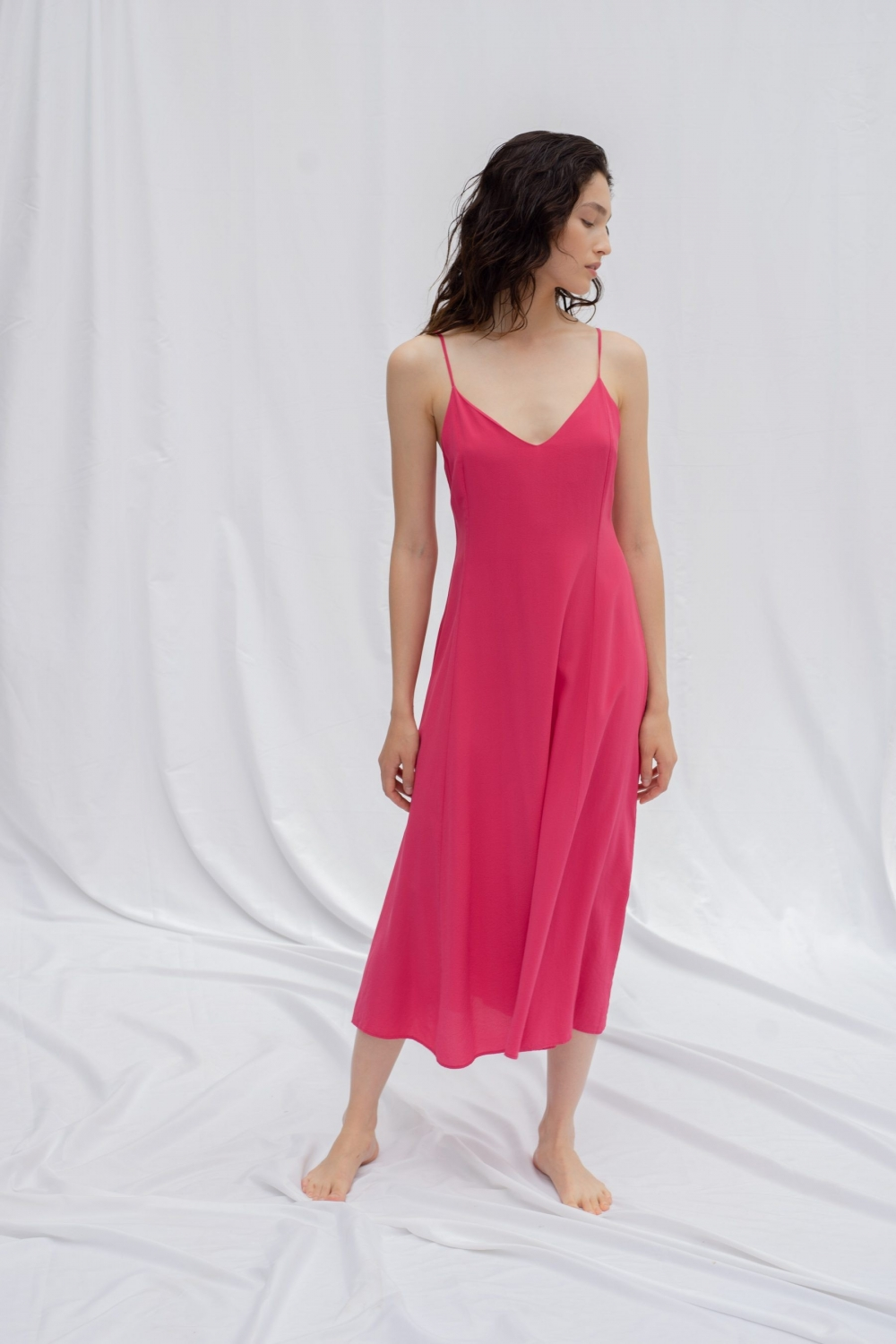 ISABELLA DRESS IN FUCHSIA