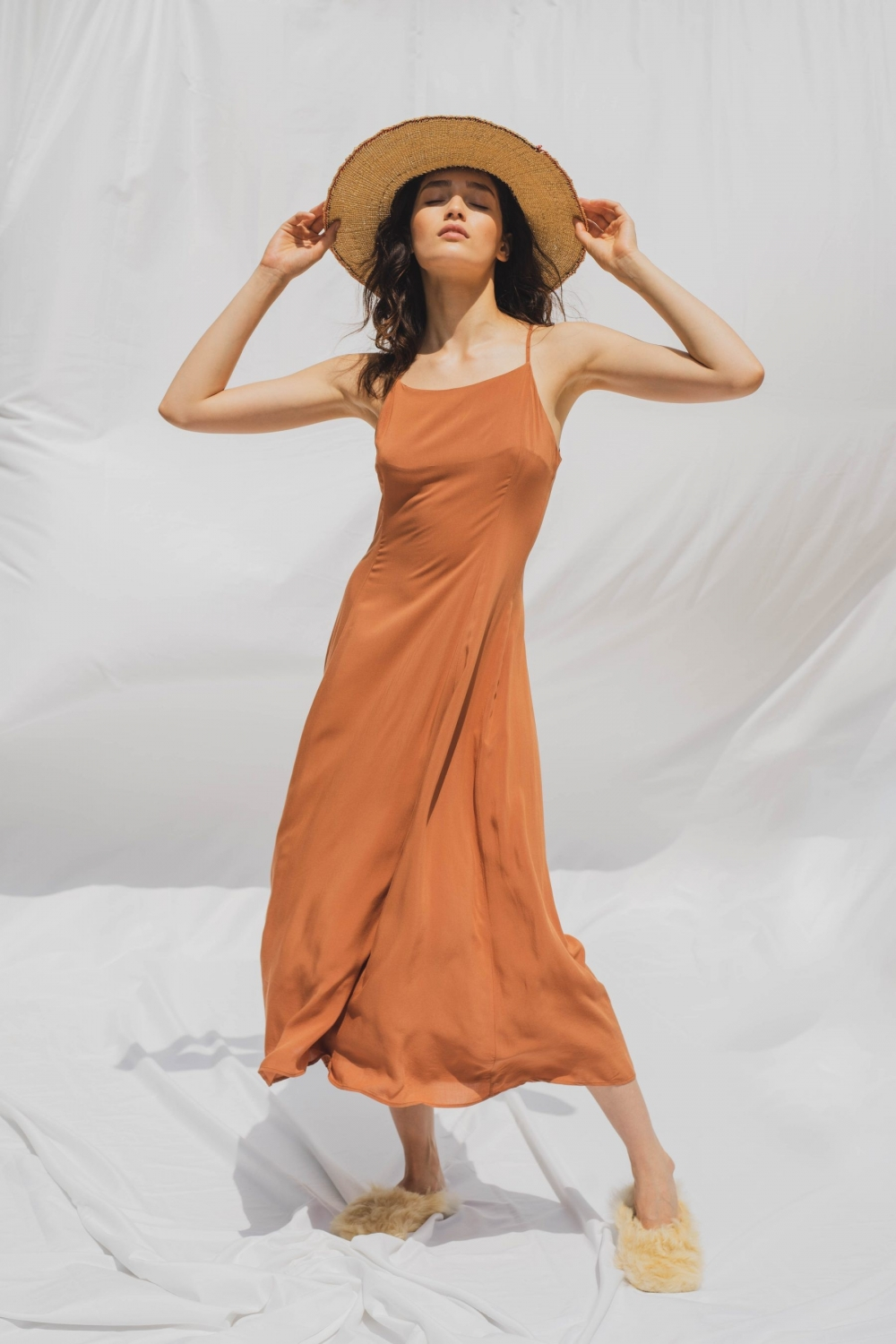 JULIETTE DRESS IN TERRACOTA