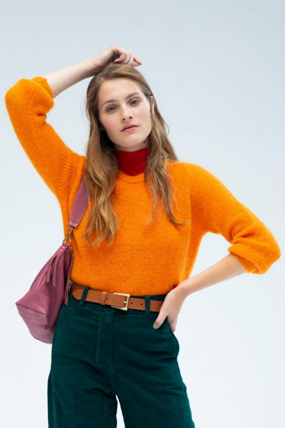 PALOMA MOHAIR JUMPER IN ORANGE