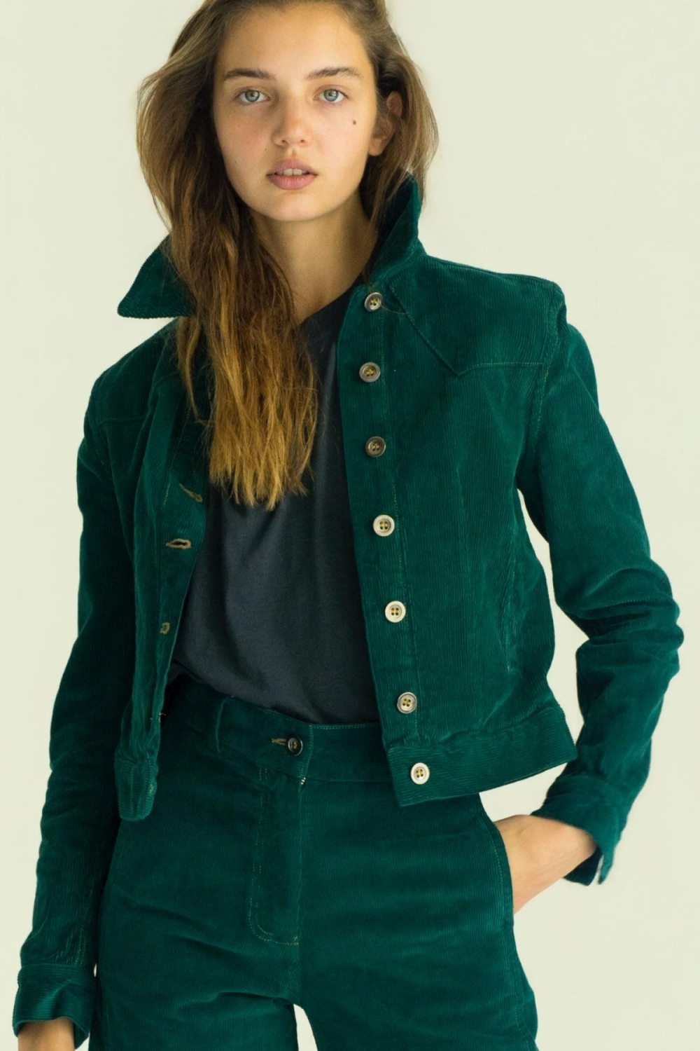 THE TEAL GREEN CORDUROY JACKET