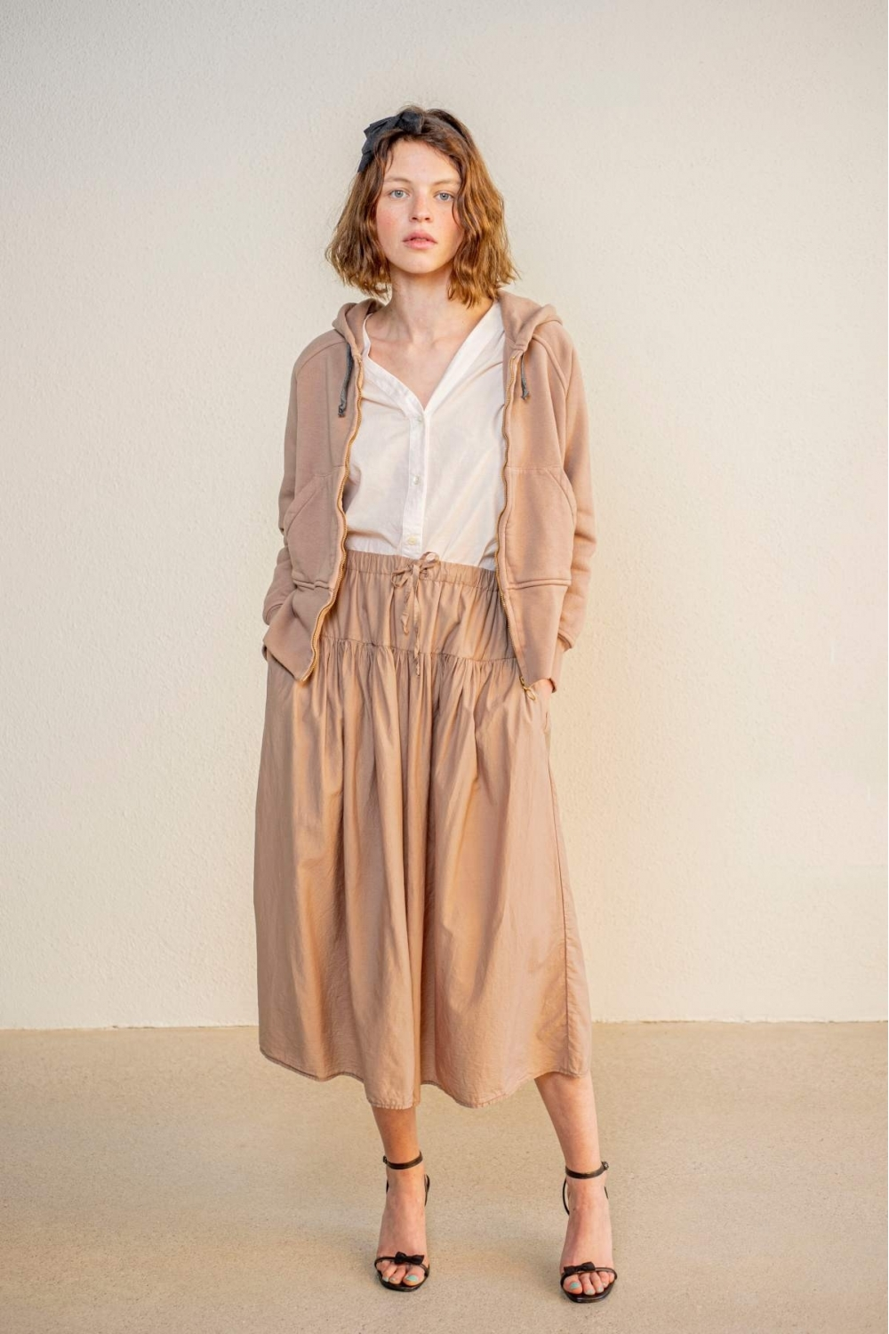 CARINE SKIRT IN BROWN VOILE