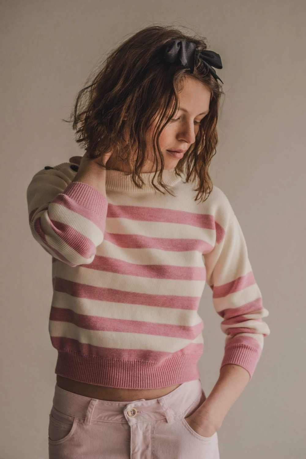 "STRIPED KNIT SWEATER ""BY..."