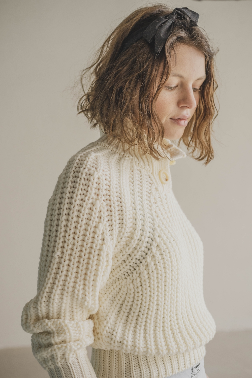 IVORY SAILOR TRICOT SWEATER