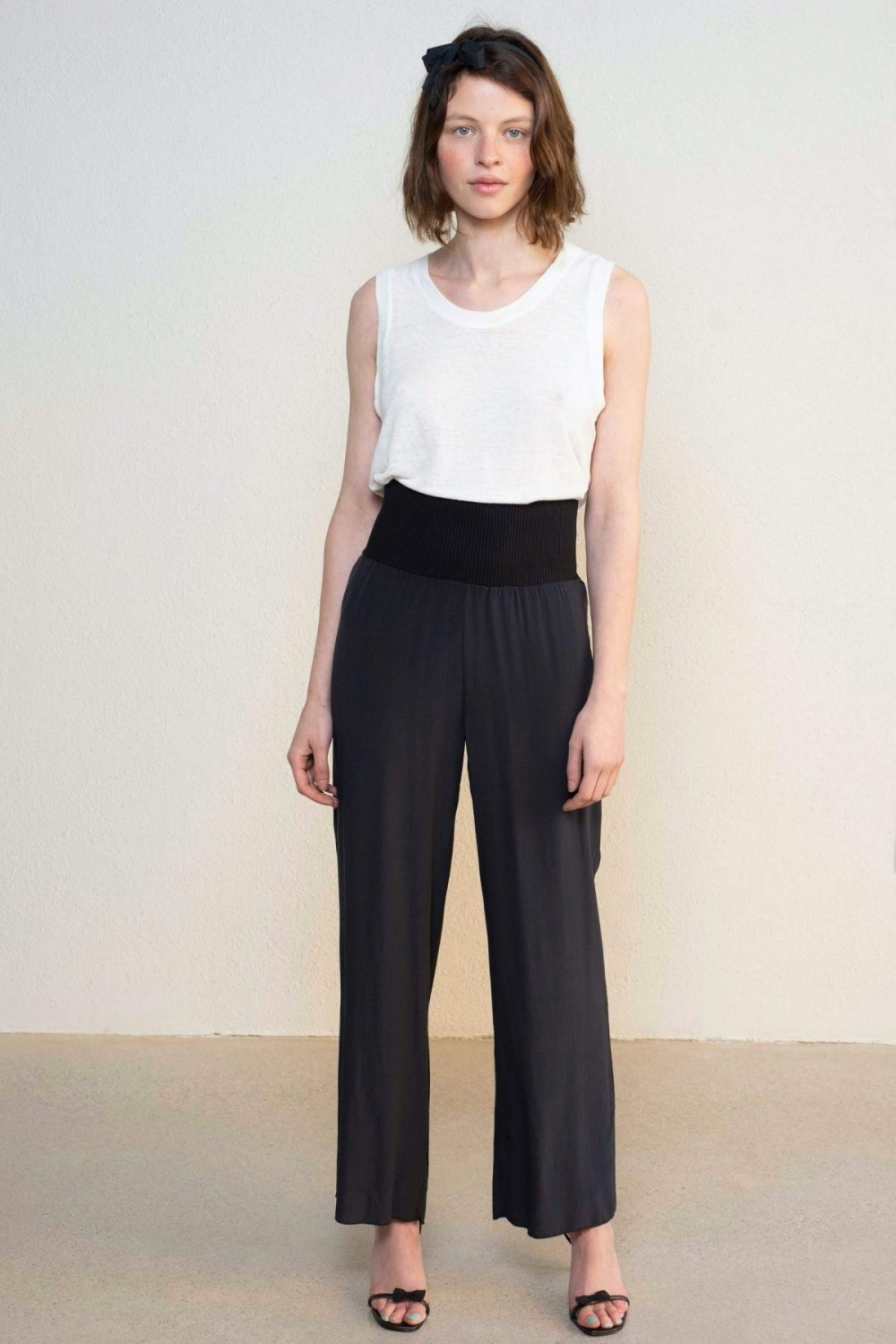 THE ICONIC SILK SLIM TROUSERS