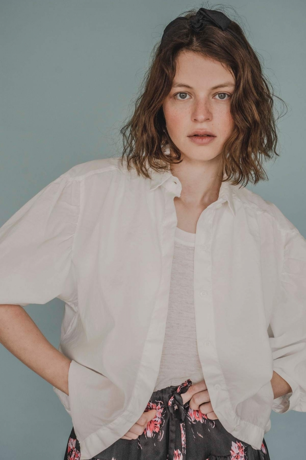 CARINE VOILE SHIRT WITH...